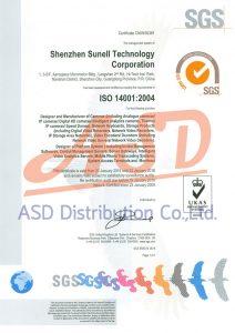 ได้รับมาตรฐาน ISO14001